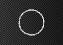 White Smoke  Circle  Track Isolated On Transparent Background.