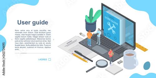 User guide concept banner Fototapeta