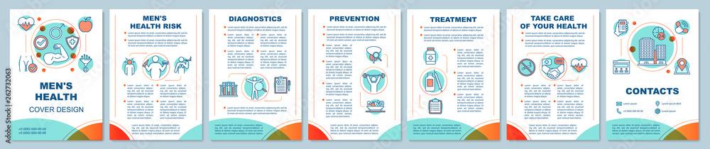 Fototapeta Men's health brochure template layout