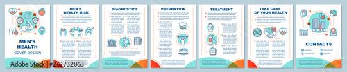 Obraz Men's health brochure template layout - fototapety do salonu