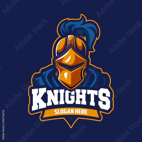 Fotomural Knight modern professional sport logo