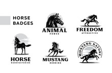 A Set Of Badges Frisky Horses