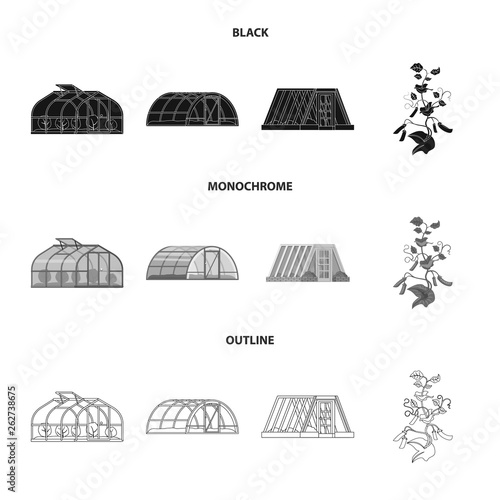 Cuadros en Lienzo Isolated object of greenhouse and plant logo