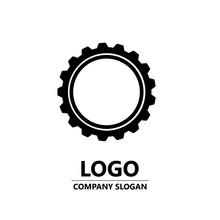 Cogwheel Logo Design. Gear Wheel Vector Icon. Logotype, Vector