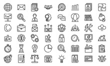 Administrator Icons Set. Outli...