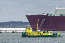 LNG TANKER - Ship Moored To Th...