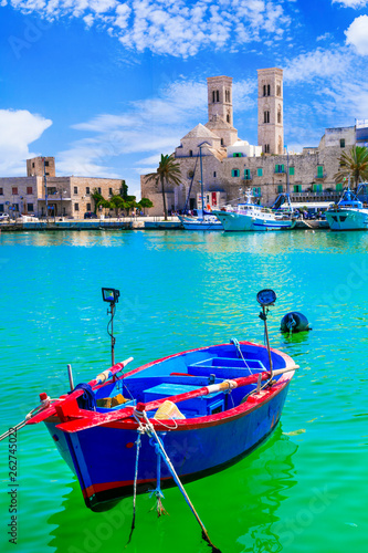 Molfetta - picturesque coastal town in Puglia , Italy