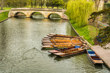 Punts Moored On The Bank Of Th...