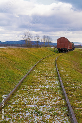 Fotomural The train at the former Jasenovac concentration camp in central Croatia which wa