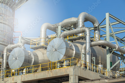 Heat Exchanger and Column, Heat Exchanger Gas separation plant. Wallpaper Mural