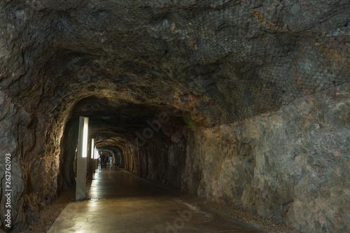 Obraz na plátně  Tunnel under the castle