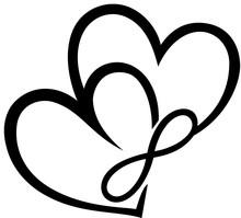 Zwei Herzen Mit Unendlichkeits...