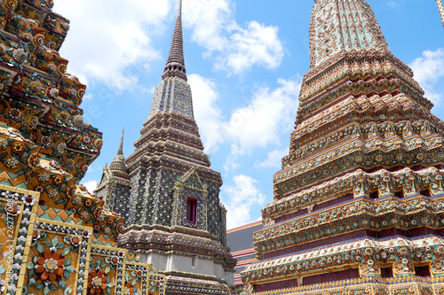 Detail architecture at Wat Pho, Bangkok, Thailand Canvas Print