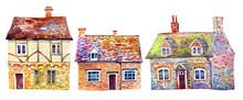 Three English Village Building...