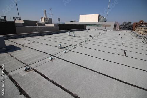 Fotografía マンションの屋上のアスファルト防水層