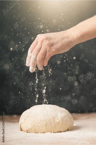 Fotografija Woman's hands knead the dough close up
