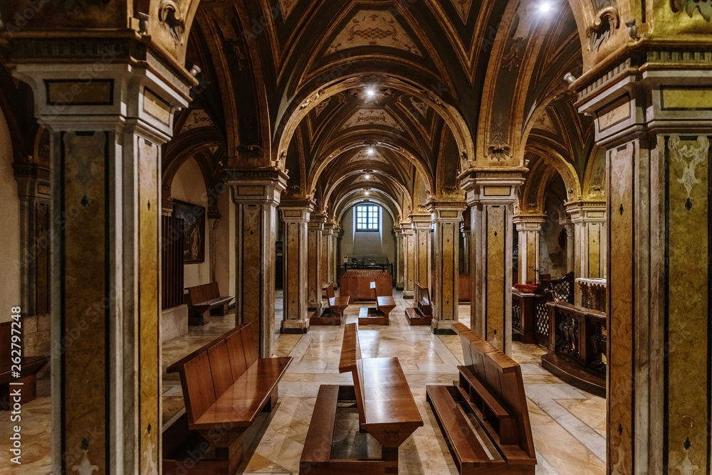 Fototapety, obrazy: Columns of the crypt of the Cathedral Basilica of San Sabino in Bari.