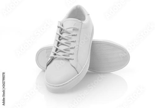Obraz New white shoes - fototapety do salonu