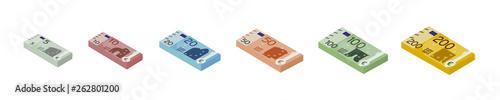 Euro Stapel Set Fototapete