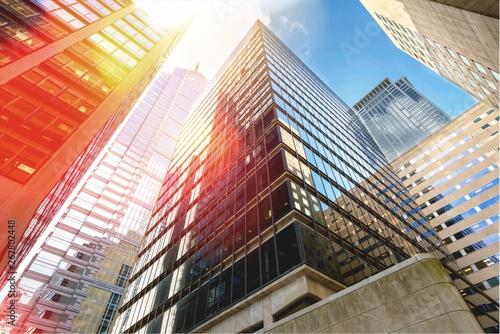 Fototapety, obrazy: Modern office buildings in city