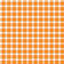 Orange Buffalo Plaid Seamless Pattern - Classic Buffalo Plaid Pattern Design
