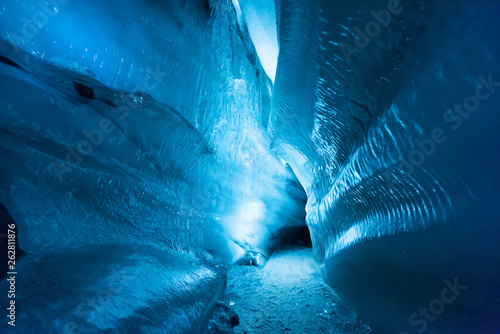 The polar arctic Northern ice cave in Norway Svalbard in Longyearbyen city Fototapet