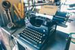 Rare old-fashioned typewriter