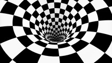 Chess Spiral . The Space And Time. 3D Illustration.  High-resolution Background  For Meditation