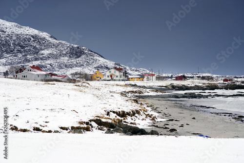 Fotobehang Antarctica Winter landscape in Lofoten Archipelago, Norway, Europe
