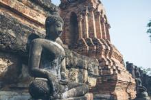 Weathered Statue Of Buddha Loc...