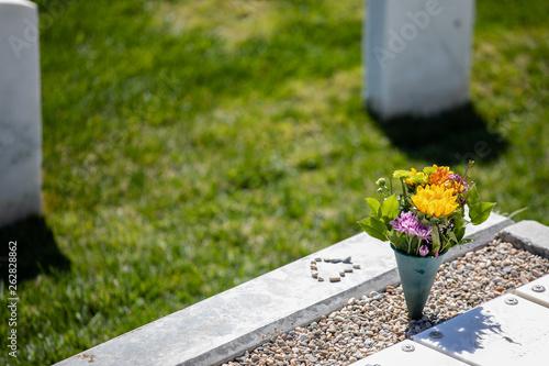 Aluminium Prints Garden memorial flowers