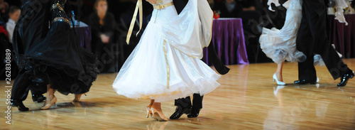 Fotografie, Obraz woman and man dancer latino international dancing