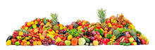 Big Pile Fruits And Vegetables...