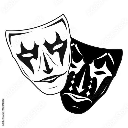 Cuadros en Lienzo Theatrical mask_3