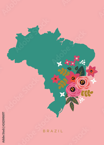 Floral Brazil Canvas Print