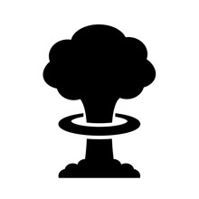 Nuclear Bomb Explosion Vector Icon