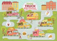 Food Truck Festival City Map