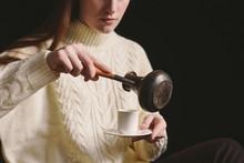 Woman Serving Turkish Coffee F...