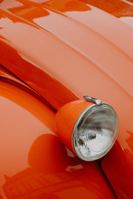 Detail Of A Vintage Car Headlight