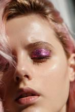 Woman With Glittering Eyeshadow