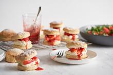 Strawberry And Cream Scones.