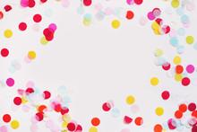 Colorful Paper Confetti Scatte...