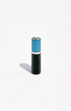 Battery On Simple White Background