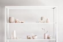 Hand Made Ceramics On A Shelf