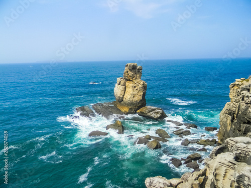 Landscape of Cabo Carvoeiro in the Atlantic Ocean, Portugal Canvas Print