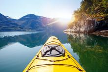 Kayaks On Luster Fjord In Norway