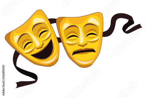Fototapeta theater mask icon