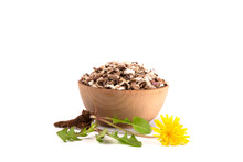 Bowl Of Dandelion Root An Alte...