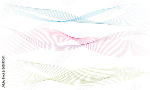 Abstract colorfull wave element for design Fototapet