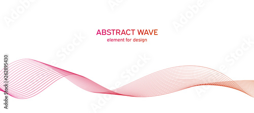 Photo  Abstract colorfull wave element for design